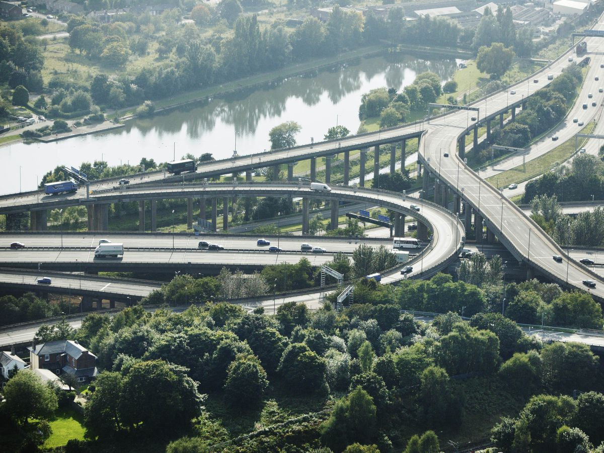 Even Spaghetti Junction is surprisingly green, just one area of the urban West Midlands dominated by trees and water