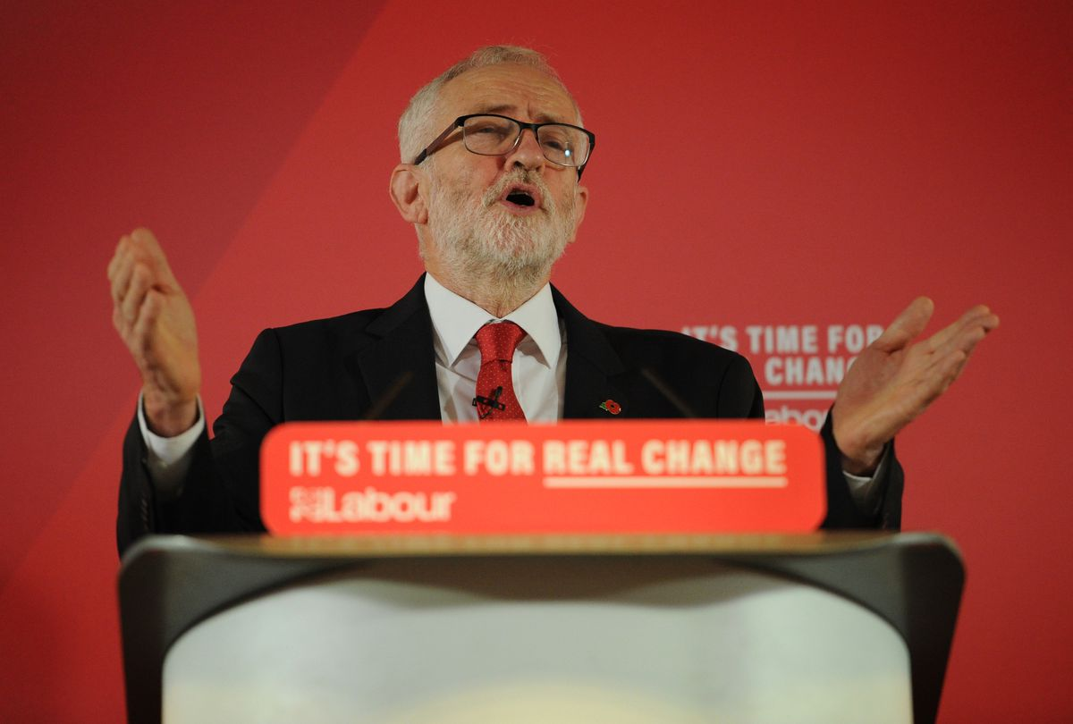 Jeremy Corbyn, pictured at the University of Wolverhampton's Telford campus on Thursday