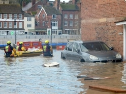 River Severn overwhelms flood barriers leaving Bewdley and Stourport under water