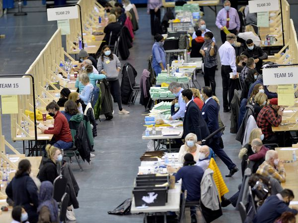 The votes are being counted at the Utilita Arena in Birmingham