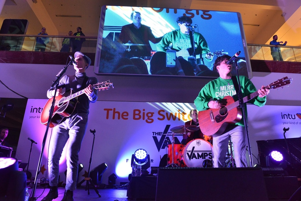 The Vamps perform intimate gig to lucky few before Merry
