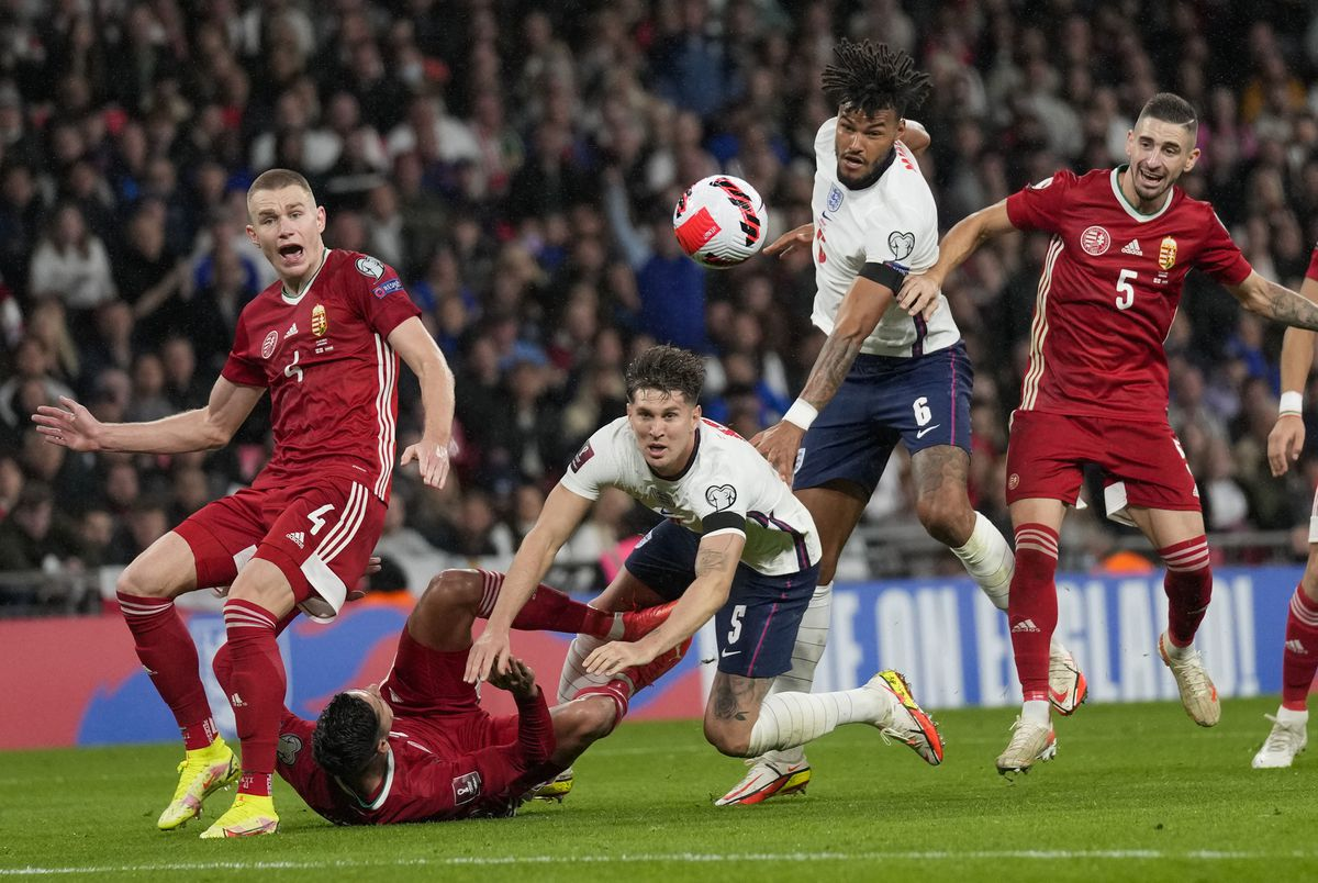 Tyrone Mings in action (AP Photo/Kirsty Wigglesworth).