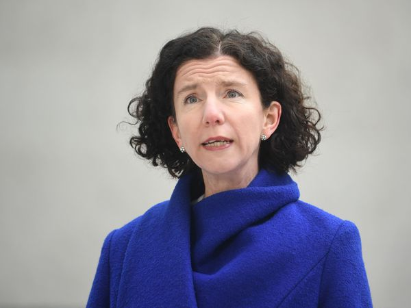 Anneliese Dodds arrives at the BBC