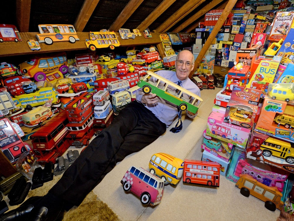 Geoff's collection of buses is far from Dinky - PICTURES and VIDEO