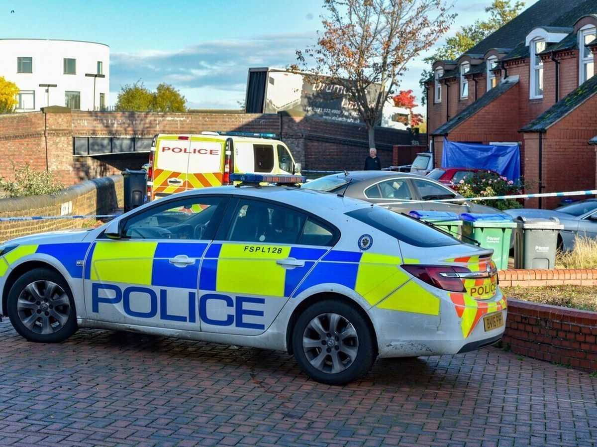Police at the scene in Beehive Walk, Tipton. Photo: SnapperSK
