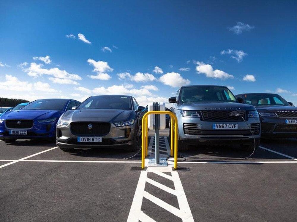 Jaguar Land Rover installs 'UK's largest' EV charging facility