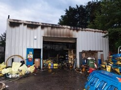 Firefighters battle factory blaze in Brierley Hill - with PICTURES and VIDEO