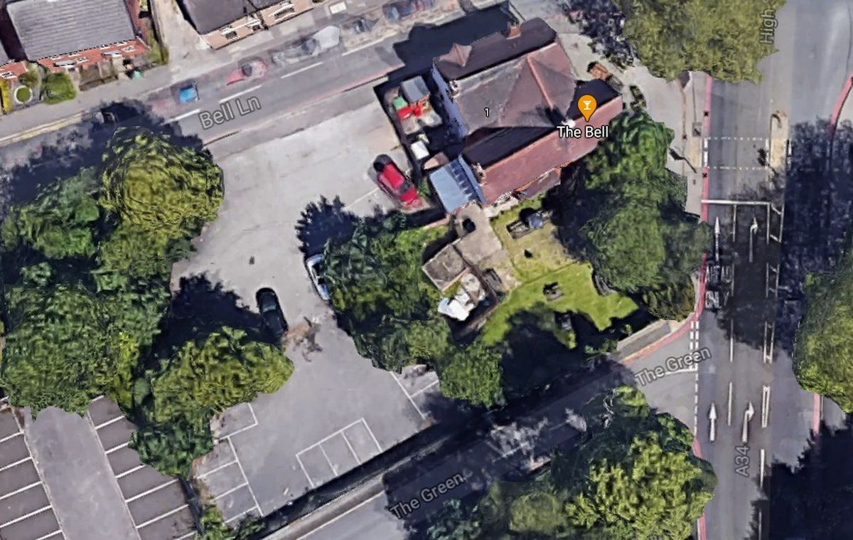 Flats are earmarked for land behind The Bell Inn on The Green, Bloxwich. Photo: Google