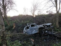 Cars burnt out in Tipton