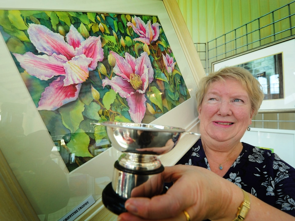 Artists work on display in exhibition