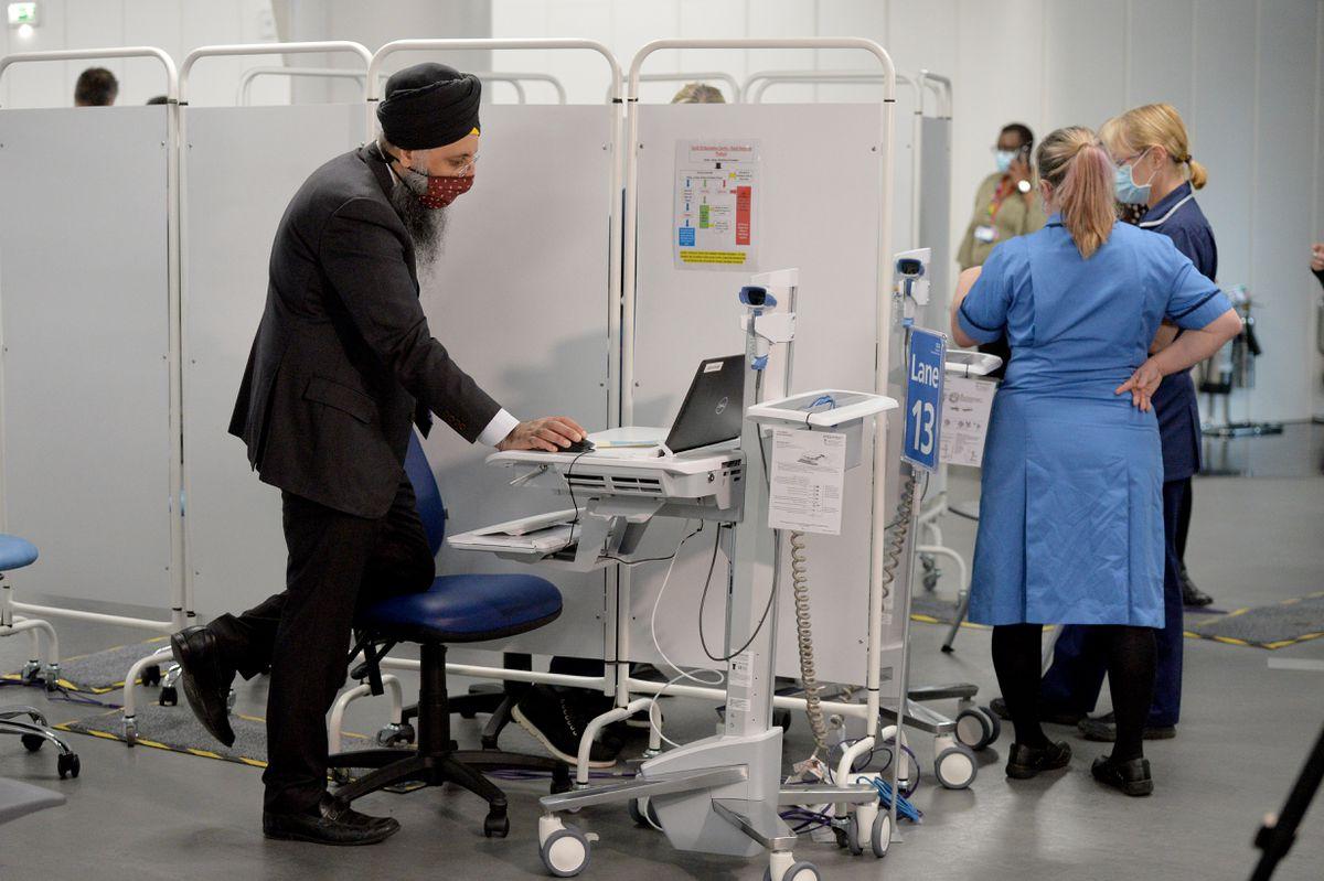 Mass vaccination centre opens at Millennium Point, Birmingham