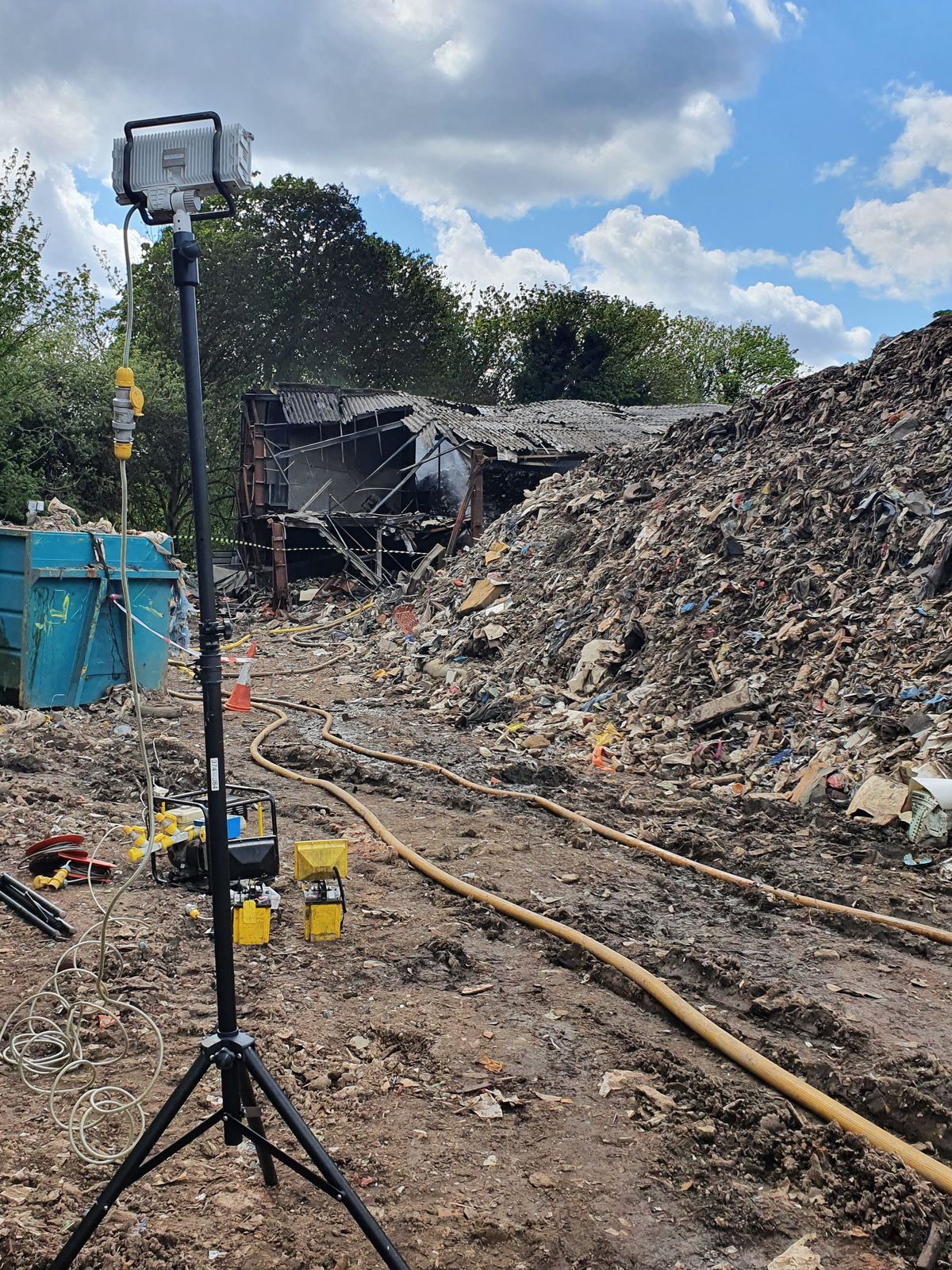 Fire officers managed to stop the fire from spreading to nearby buildings and a nature reserve