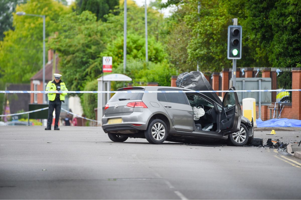 The stolen Fiesta hit another car in Pelsall, Walsall, on Wednesday night. Photo: SnapperSK.