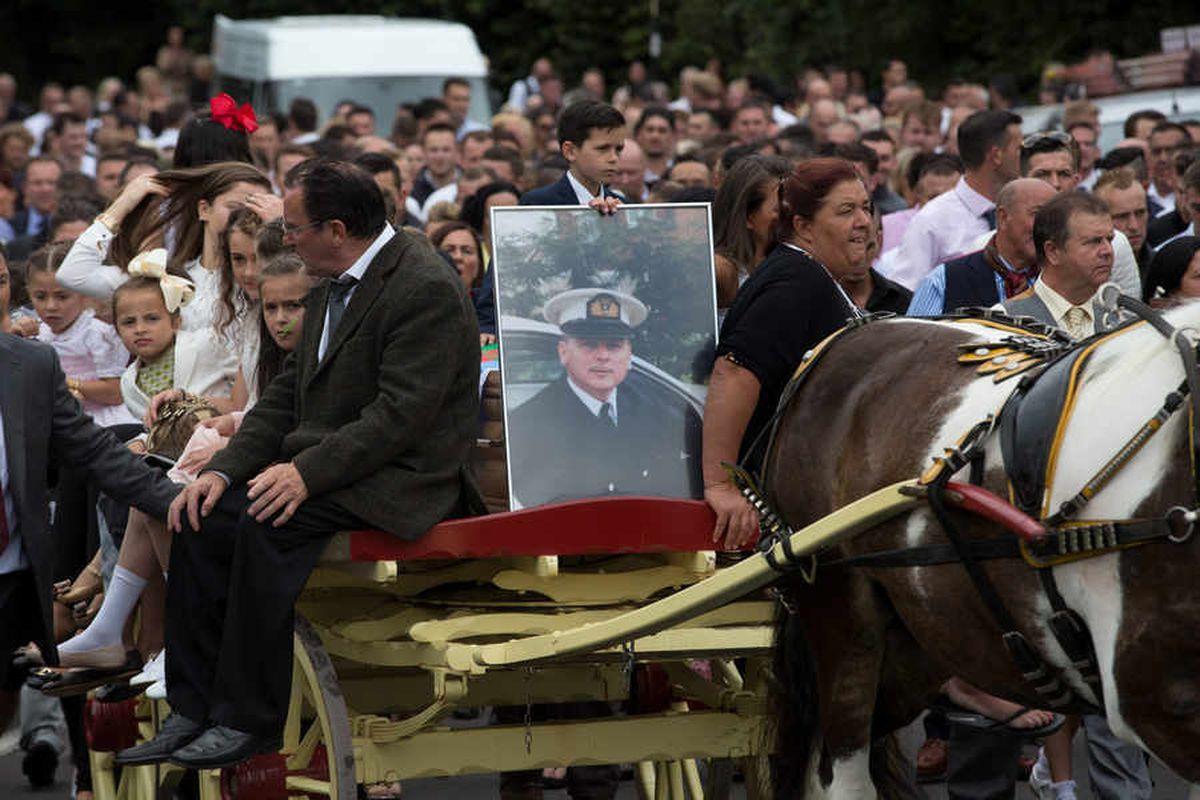 The funeral of Pastor Davey Jones