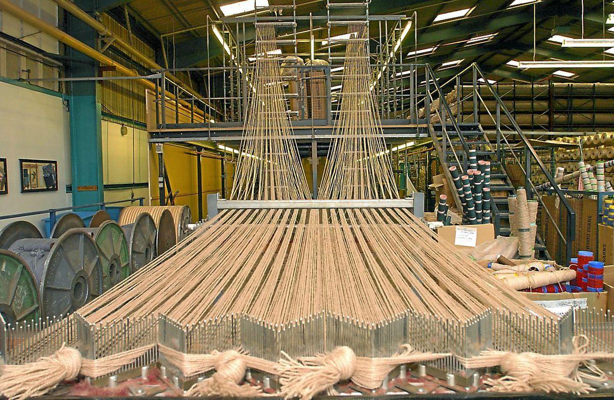 Carpet weaving has resumed at Kidderminster-based Victoria
