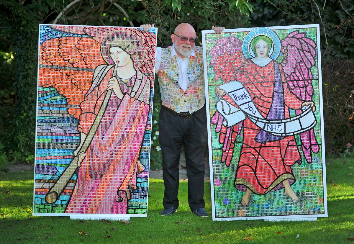 The two pieces are inspired by pre-Raphaelite works in churches across the country