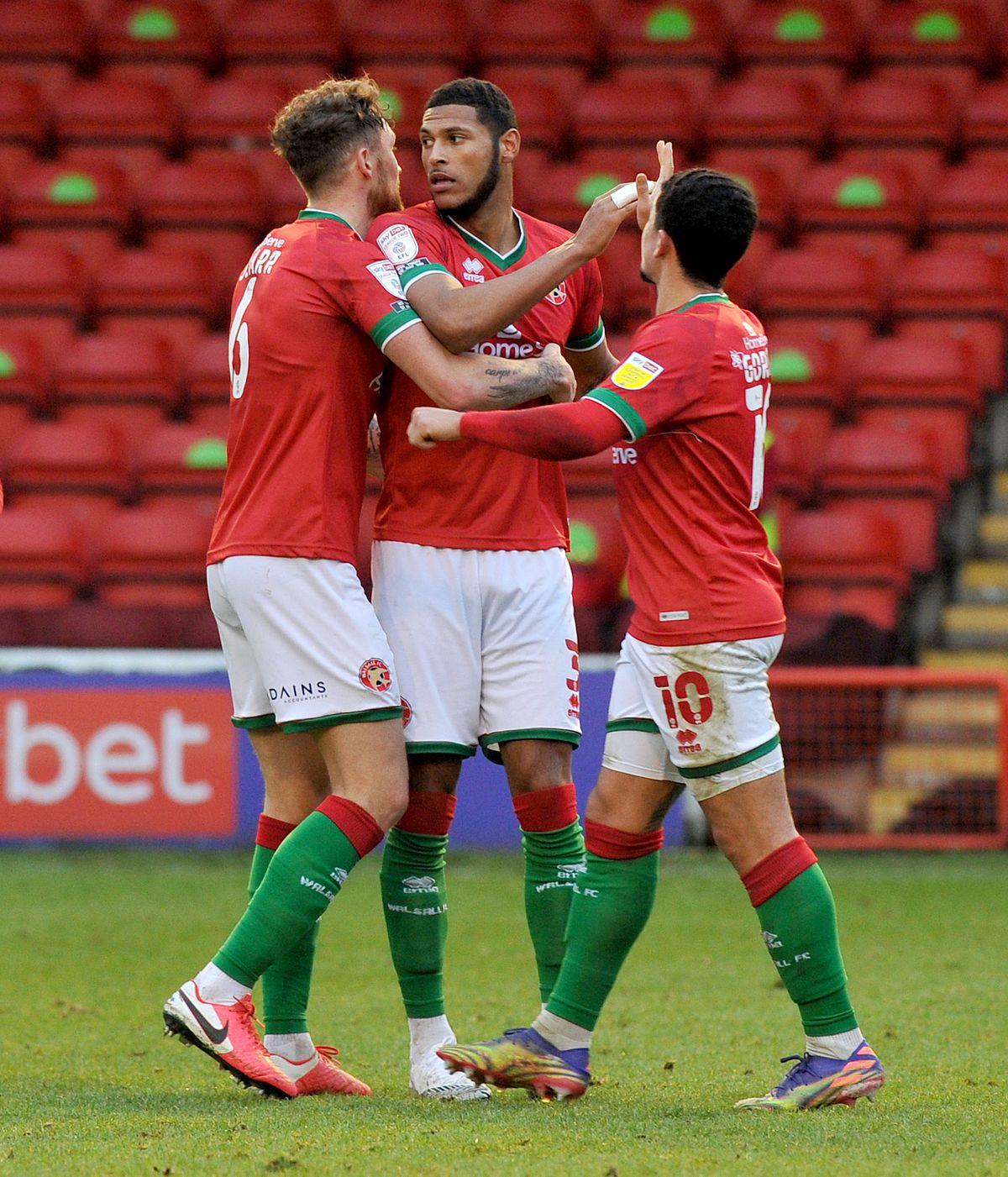 Zak Jules celebrates his goal