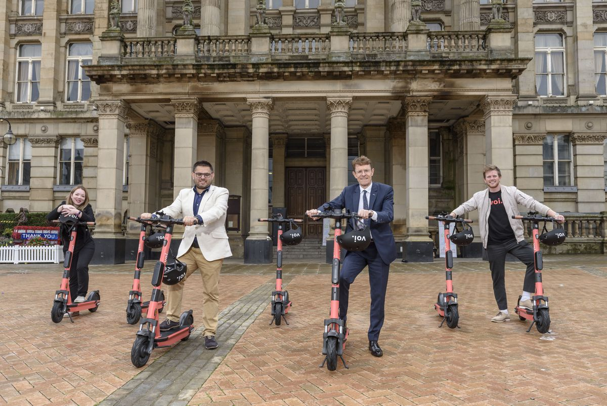 Rented e-scooters were launched in Birmingham and West Bromwich in December