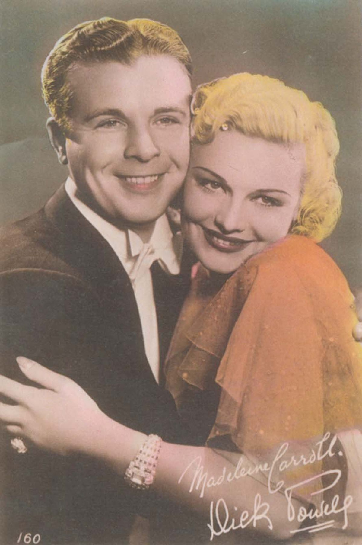 Madeleine Carroll with her On The Avenue co-star Dick Powell