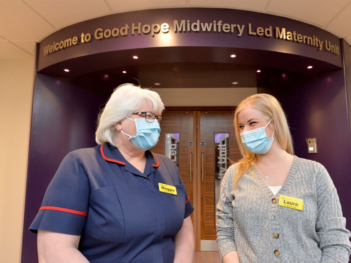 Matron Maggie Coleman and fundraising manager Laura Power