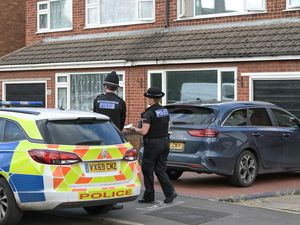 Police at the scene in Cairndhu Drive, Kidderminster