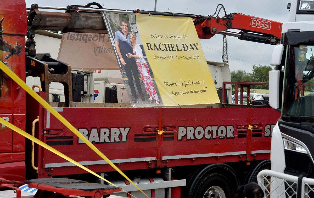 Rachel's husband Andrew organises the convoy