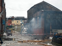 Smethwick fire: Scene of destruction revealed after huge furniture warehouse blaze - with VIDEO and PICTURES