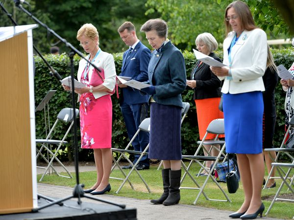 The start of the service at the National Memorial Arboretum