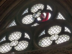 The trefoil window was repaired. Photo: Lichfield Cathedral Photographers