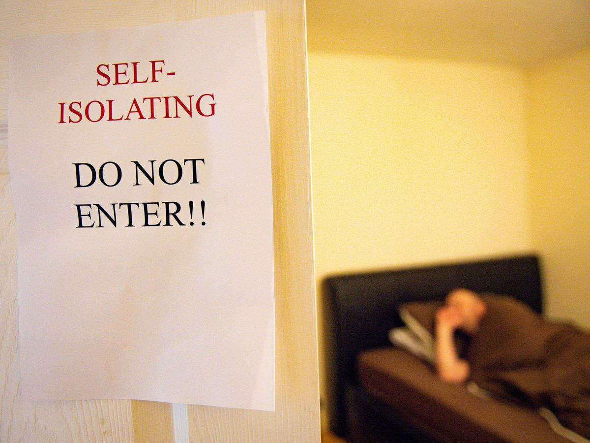 Person self-isolating