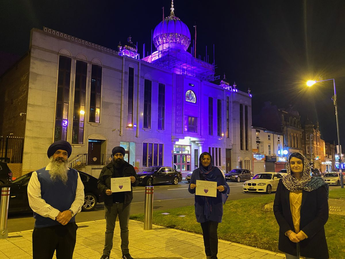 The campaign at the gurdwara began on Thursday