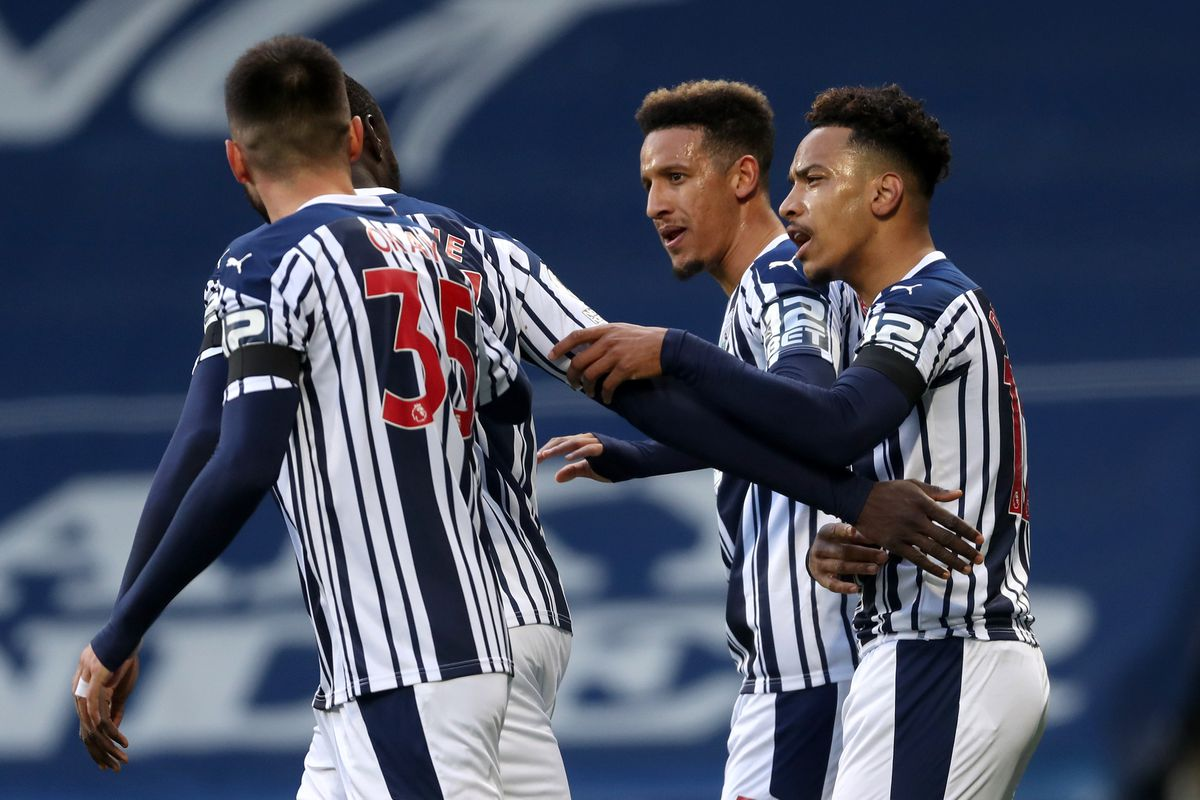 Matheus Pereira of West Bromwich Albion celebrates after scoring a goal to make it 1-0 from the penalty spot. (AMA)