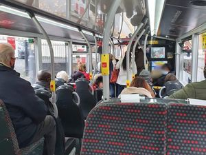 Passengers on the 529 bus from Walsall to Wolverhampton. Photo: Vera Waters