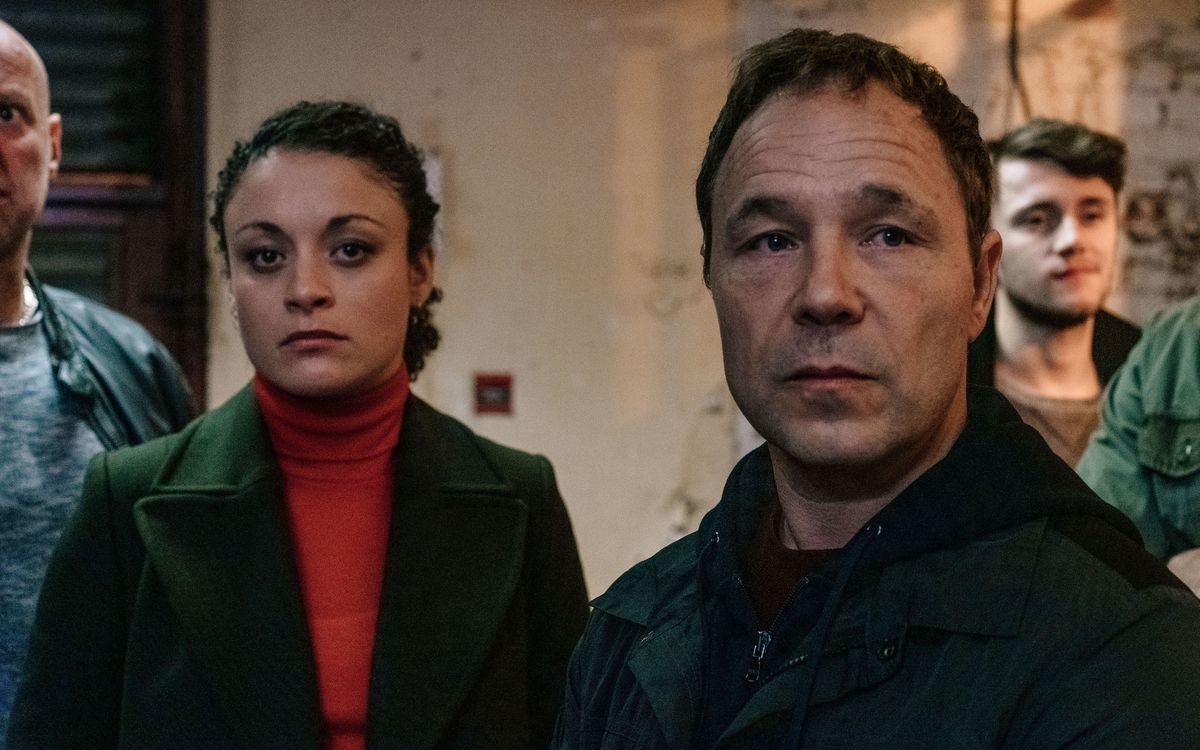 Rochenda Sandall as McQueen and Stephen Graham as Corbett in Line of Duty. Pic: PA Photo/BBC/World Productions Ltd/Aiden Monaghan