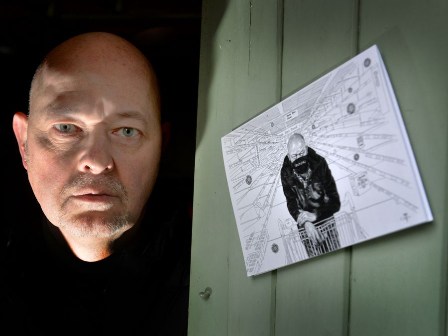 WALSALL COPYRIGHT TIM STURGESS EXPRESS AND STAR...... 76/01/2021. World renowned Walsall portrait artist Andrew Tift has produced a new artwork during lockdown called '2020 vision' based on his experience of  COVID 19....