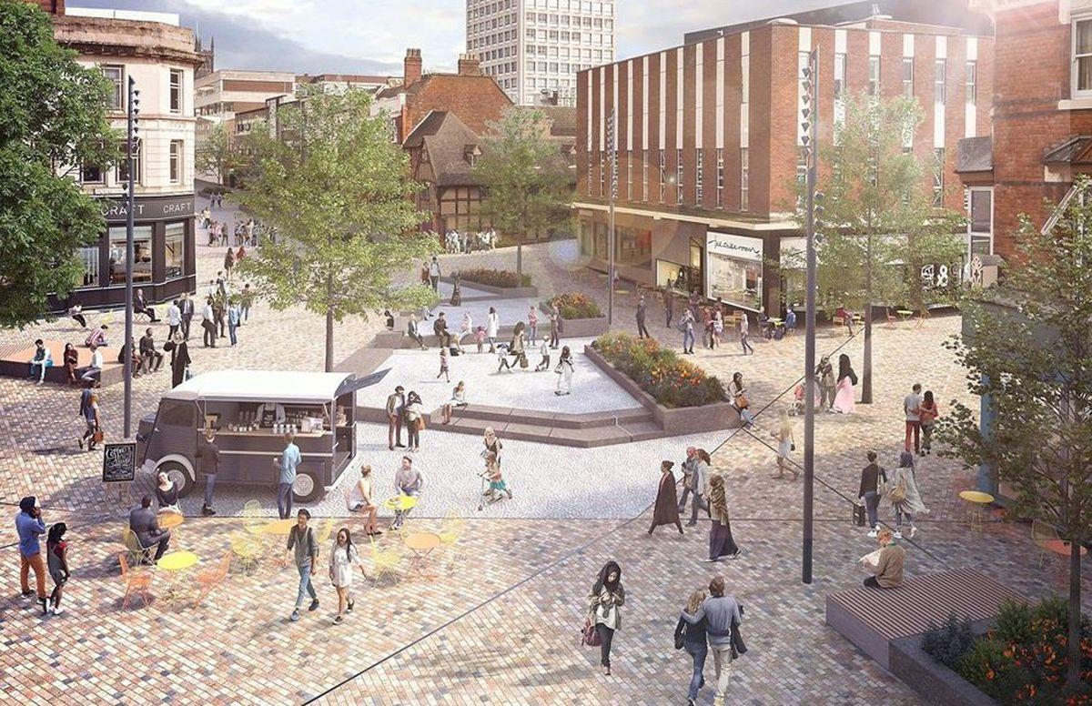 An artist's impression how a proposed revamp of Victoria Street in Wolverhampton will look. Image: City of Wolverhampton Council