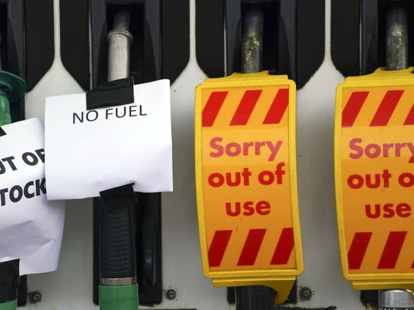 A Shell petrol station in Bracknell, Berkshire was one of thousands in the UK to have run out of fuel on Sunday