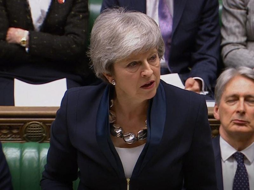 May gives parliament votes on delaying Brexit