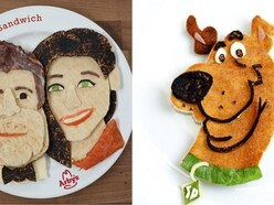 10 pretty awesome portraits made from sandwiches