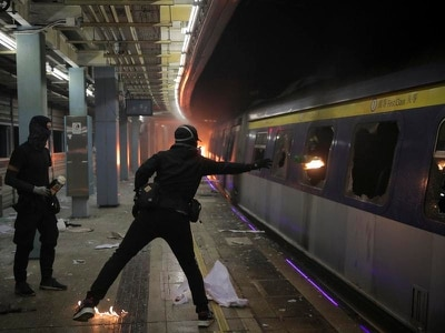 Security stepped up in Hong Kong after night of clashes