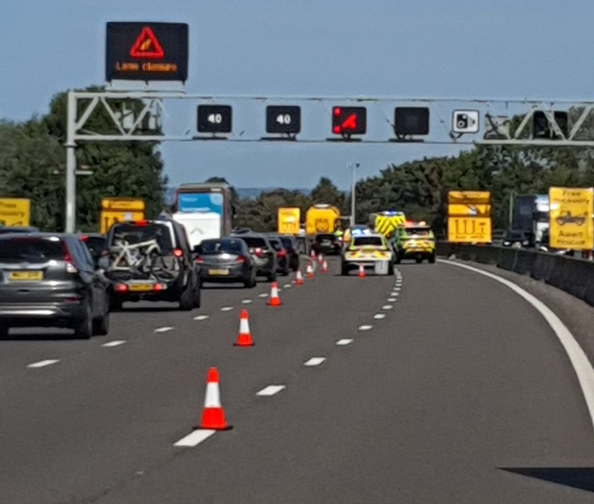 The scene on the M6. Photo: CMPG