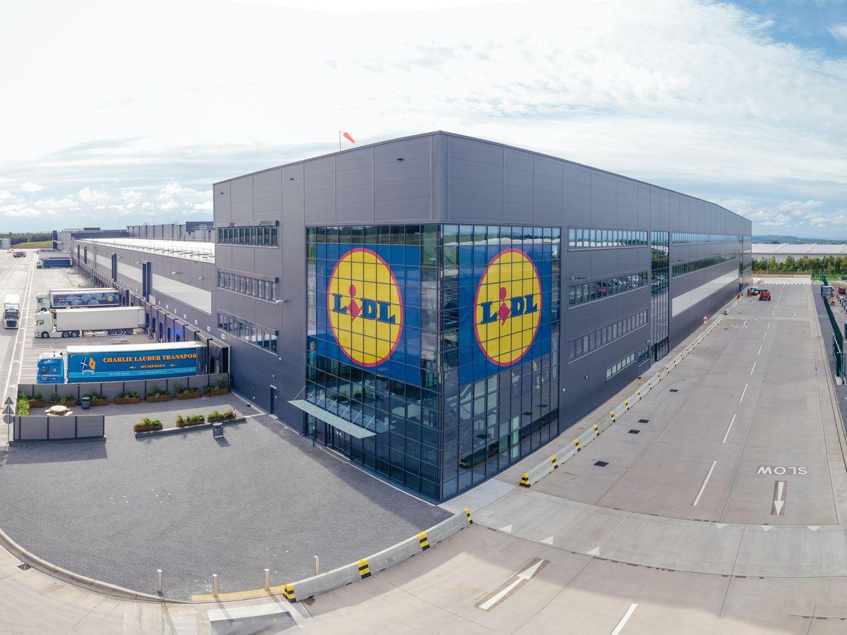 A Lidl distribution centre