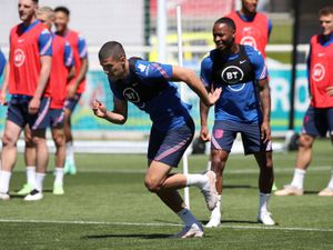 England's Conor Coady and Raheem Sterling