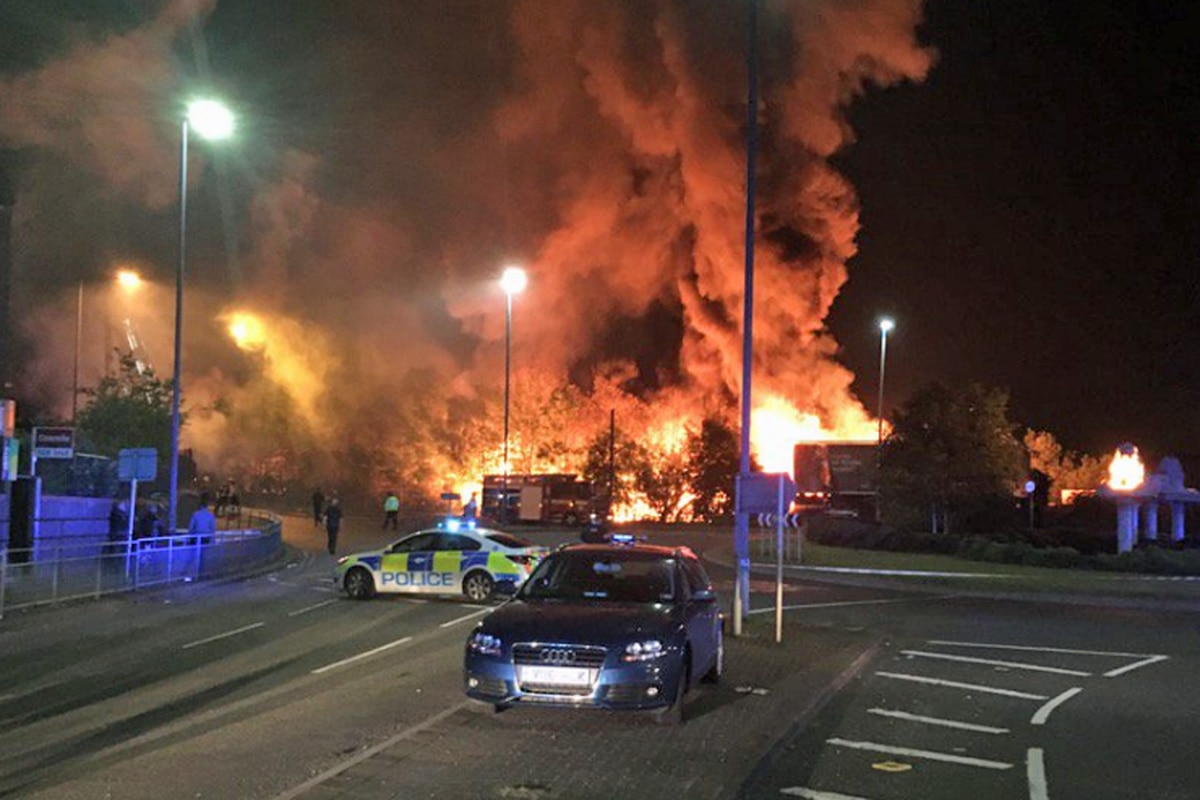 VIDEO and PICTURES: Huge factory blaze in Tipton 'suspicious'