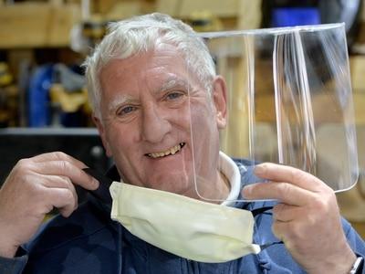 Bob the Cannock builder making hundreds of masks and visors for NHS