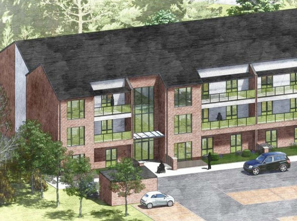 Artist impression of proposed apartments on the Mali Jenkins House site in Walsall. Photo: Acanthus W S M Architects