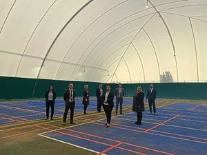 Teachers inside the leisure dome