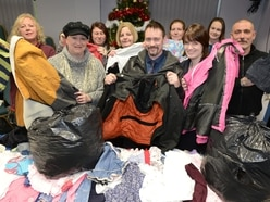 Bags of clothing gifted to families for free