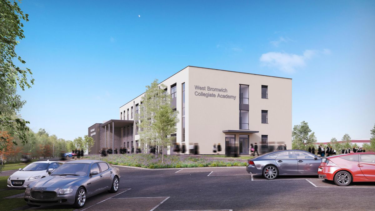 An artist impression of West Bromwich Collegiate Academy