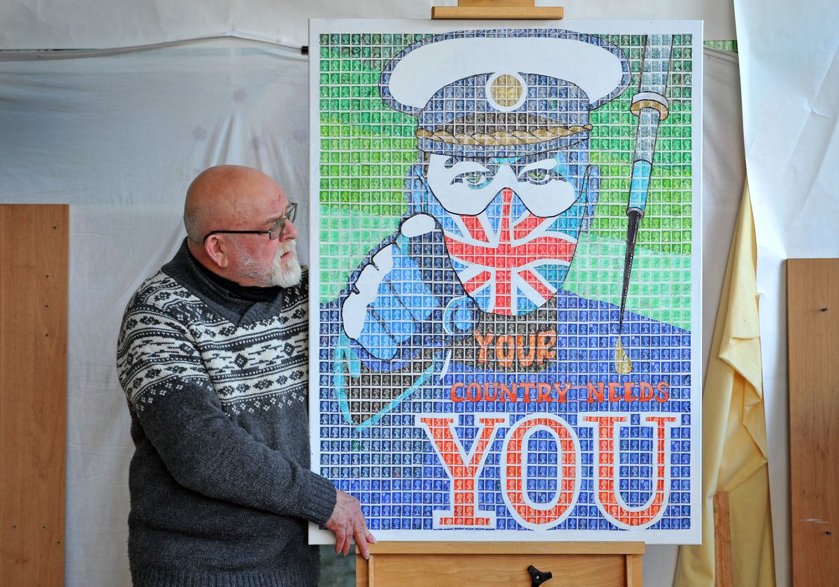 Artist Pete Mason has created this piece depicting the famous Kitchener poster